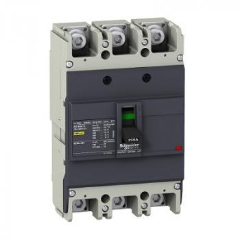 EasyPact EZC250, 3P, Type F, Icu=18kA/415V