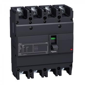 EasyPact EZC250, 4P, Type N, Icu=25kA/415V
