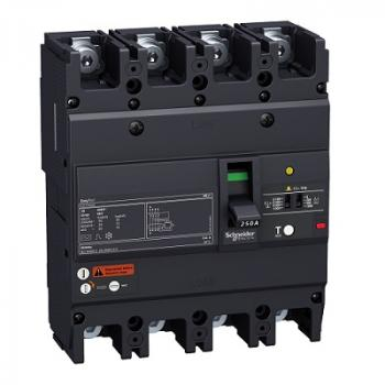 EasyPact EZCV250, 4P, Type N, Icu=25kA/415VAC