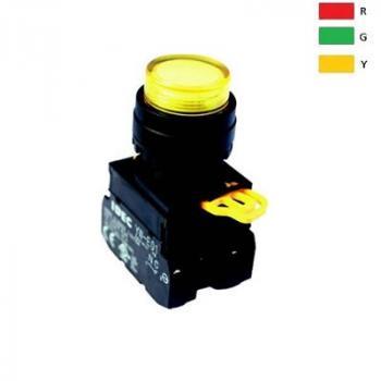 Nút nhấn có đèn, loại lồi, IP 65 ngoài mặt tủ