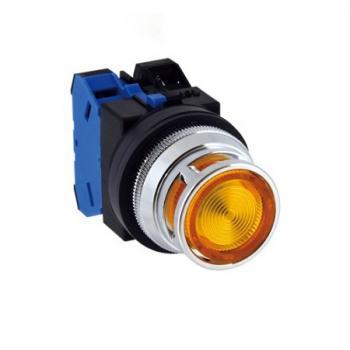 Nút nhấn có đèn, loại phẳng (Made in Japan)